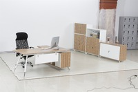 Modern Style Office Executive desk Wood Top and Side Table/ED01