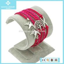Lucky Charm Tree of Life Infinity Friendship Bracelet Jewelry