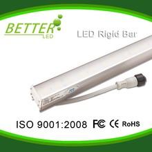 24V H type IP65 12W aluminum base Green color LED rigid strip