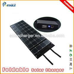 120W folding sunpower solar panel, high effi. 23.5% rate USB5V&DC18V foldable solar battery charger for car /golf cart / boat