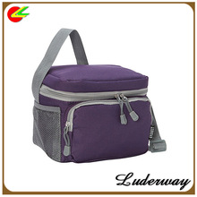 Insulated eco-friendly 600D polyester thermal cooler bag promo