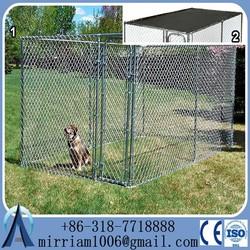 2015 New 1.5x3.0x1.8mx3 runs dog house steel structure dog runs 4.5x3.0x1.8m large dog kennels