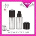 oem serviço 30ml fosco frasco de vidro cosmético