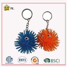 20cm USA hot TPR Promotional lighting smile face key chain