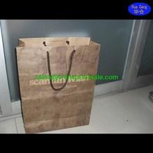2015 New Design Fashion black craft Paper Shopping Bag