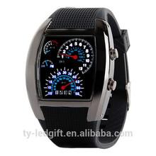 waterproof high quality led watch quartz date led watches men