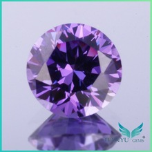 wholesale round faceted D-purplish blue gemstone loose american cut decorative imitation diamonds for jewelry making free sample
