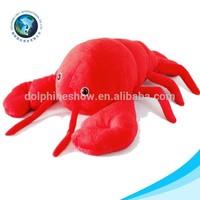 Custom top selling plush soft stuffed lobster cute red shrimp plush toy
