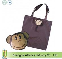 Cute Monkey Compact Folding Shopping Bag / Monkey Shape Foldable Tote Bag