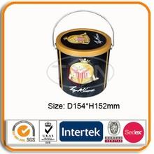 Big Round Popcorn Metal Tin Box
