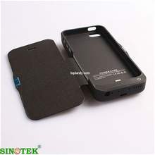 SINOTEK external battery charger case 4200mah flip cover battery charger case for iphone 5s 5c 5