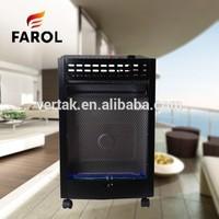 Flame gas standing portable indoor butane heater