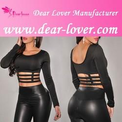 factory long sleeved women plain tops