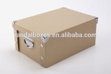 wholesale factory cardboard brown rigid kraft gift box