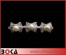 BOKA shining small pearl bow crystal rhinestone trims, crystal wedding trim, wedding running trim