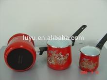 procelain enamel cast iron coffee pot