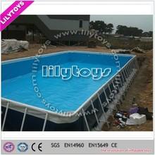steel frame swimming pool metal frame swimming pool,Durable swimming pool equipment