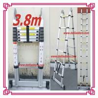 3.8m Double Aluminum Domistic Telescopic collapsible Ladder