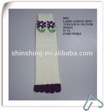 Flower Design Ladies Acrylic Toe Socks