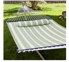 2 Person Deluxe Double Poly-Cotton Cane Hammock