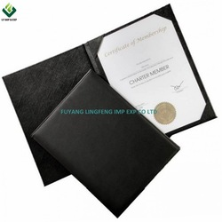 Top Grade Handmade Leatherette Paper Diploma Cover