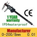 0.01 mm IP54 nueva electrónica Digital Vernier Caliper profundidad interior fuera de herramienta de medición