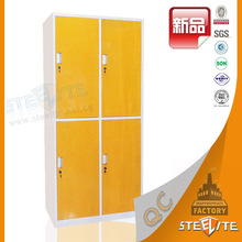 Bedroom furniture China direct colorful four door metal clothes cupboard design