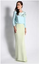 2015 Long Sleeve Muslim Dress Model Baju Kurung Modern