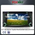 โตโยต้าสากล( hilux/rav4/เก่าcorolla/yaris/fortuner/innova) ดิจิตอลรถยนต์เครื่องเล่นดีวีดีที่มีระบบrdsวิทยุ/gps/คู่โซน