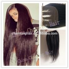 Cheapest 3 Way part silk base closure 4''x4'',virgin malaysian light yaki human hair silk top closure stock lace bleached knots
