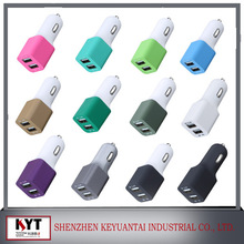 5v3.4a 1a+2.4a car charger rubber surface for phone,pad with fireproof pc,kc,ce,fcc,rohs