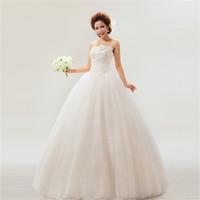 HFR-T1581 White lace sweet bowknot taobao wedding dress
