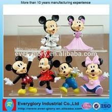 Mickey minnie mouse, oem figura pvc, plástico pequeno mickey minnie mouse