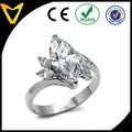 Mais recente 2015 anel de noivado design, moda anel de casamento, açoinoxidável marquise de corte cúbicos de zircônia solitaire anel de noivado