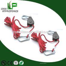 Garden indoor adjustable rope ratchet hanger,portable heavy duty metal rope ratchet