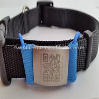 Nylon Laser engraved pet collar tag engraved