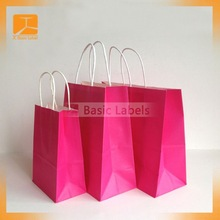 Pink Koala craft paper bag with twisted paper handle