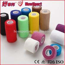 Custom Printed Strong Fabric Elastic Cotton Boxing Bandage Self Adhesive Horse Wrap