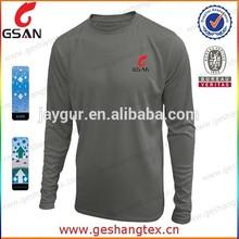 Men soild color fitness Long sleeve wicking shirt