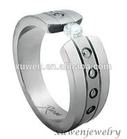 new model stainless steel arab men ring with zircon