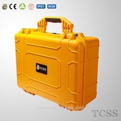 waterproof shockproof dustproof hard plastic equipemnt case / injection molded case / storage case