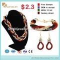 Grossista jóias conjunto 2015, jóia nupcial define africano grande moda conjunto de jóias