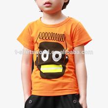 Custom design 95% polyester 5% spandex ink printing children tshirt