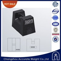 OIML high quality 100kg weighing scale, rectangular weight, test weight for crane