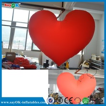 wedding decoration red led Inflatable Heart