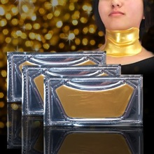 Gold pure collagen crystal firming anti-wrinkle restore skin elasticit neck mask
