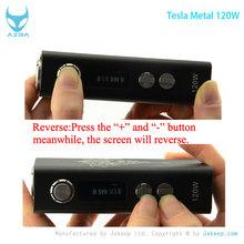 China Manufacturer Supply varaible Voltage golf gift pack 2014 for Tesla Metal 120W Mod