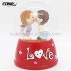 Resin snow globe new design latest wedding table decoration