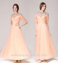 Chaozhou wholesale 2015 long sleeve evening dress floor touching evening dress online shopping