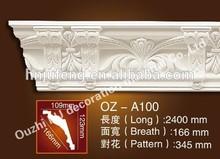 waterproof PU building material decorative cornice for interior